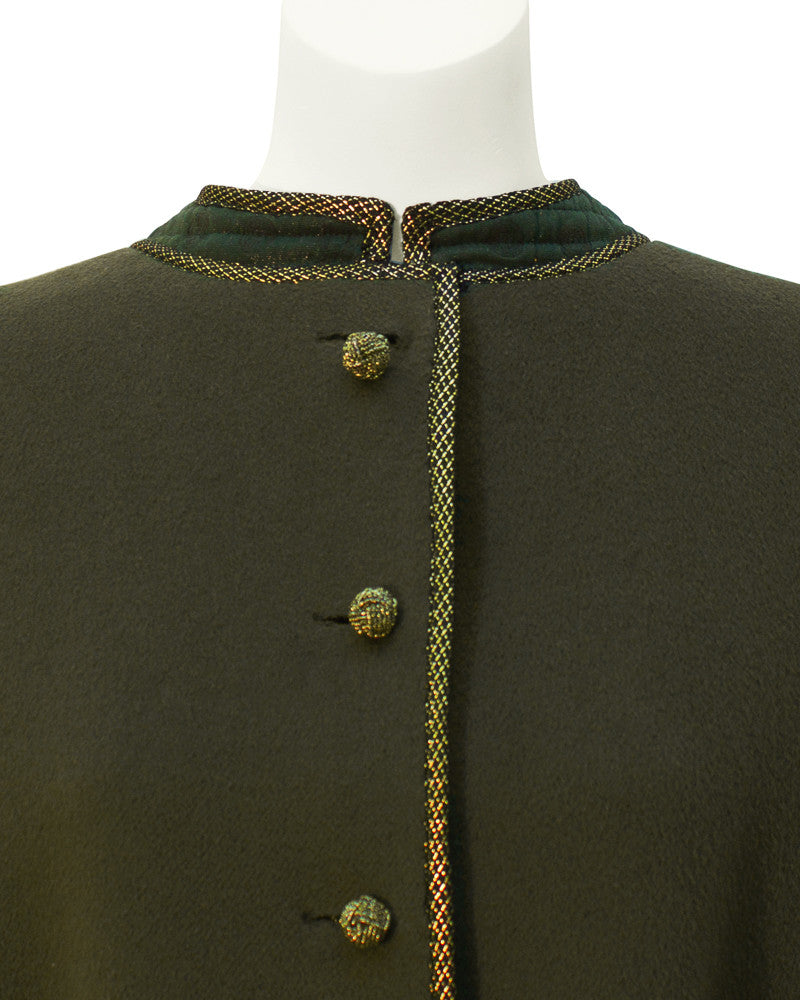 Green Coat with Gold Trim