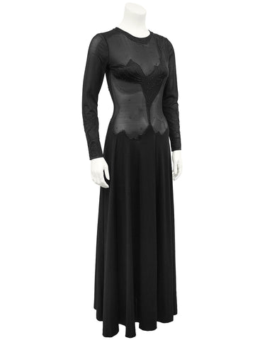 Black Illusion Gown