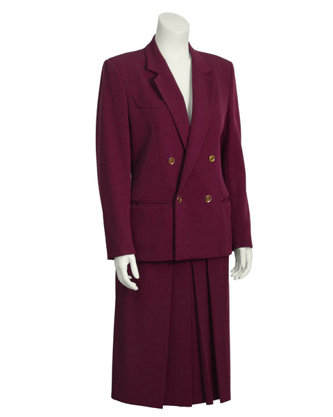 4f67ba326ff Gucci. Bordeaux Gabardine Skirt Suit