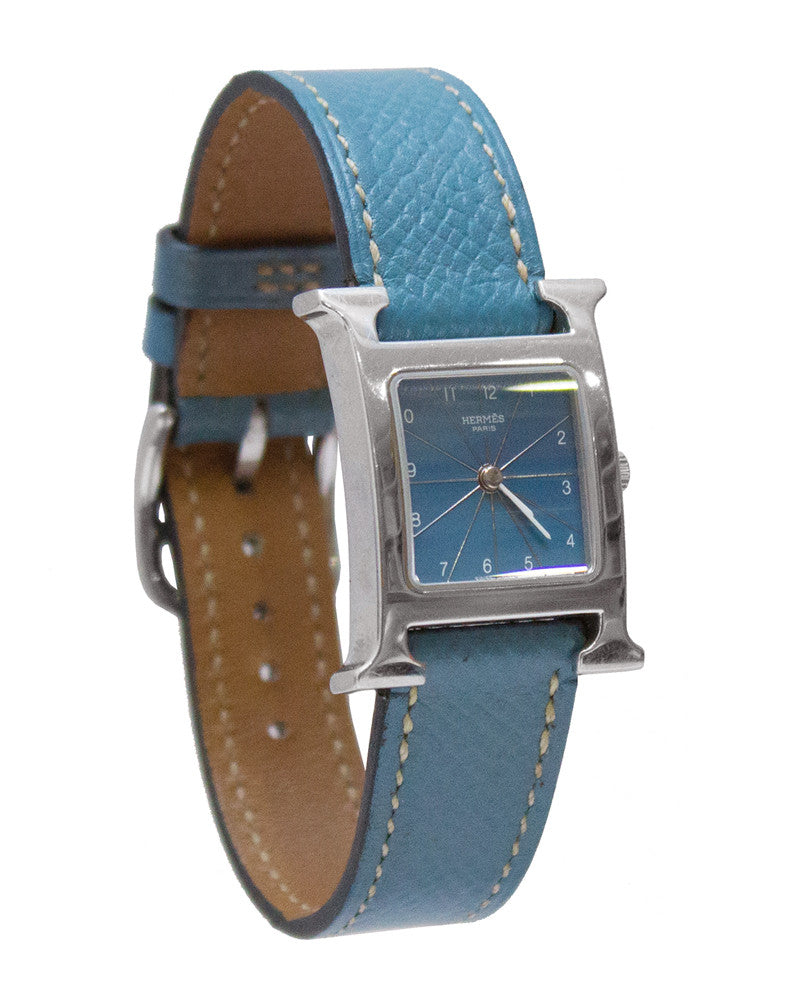 Heure H Watch With Blue Strap