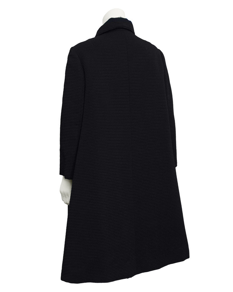 Black Corded Swing Coat