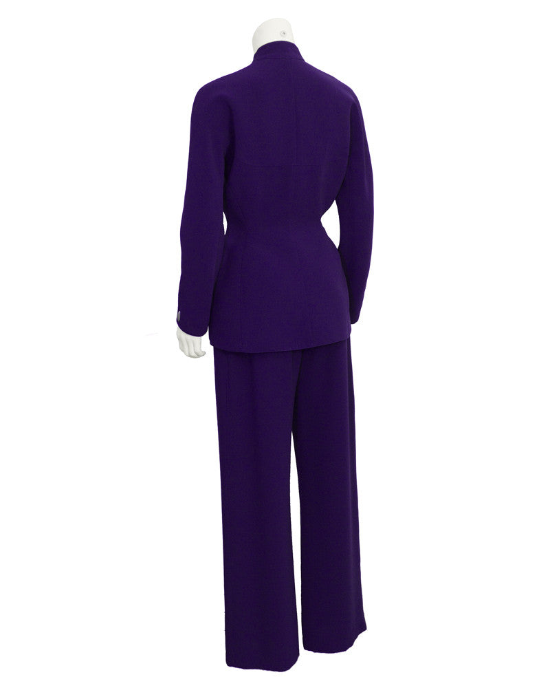 Purple Fitted Pant Suit