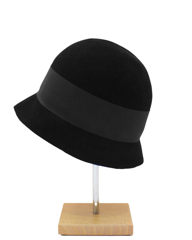Black Hat with Ribbon