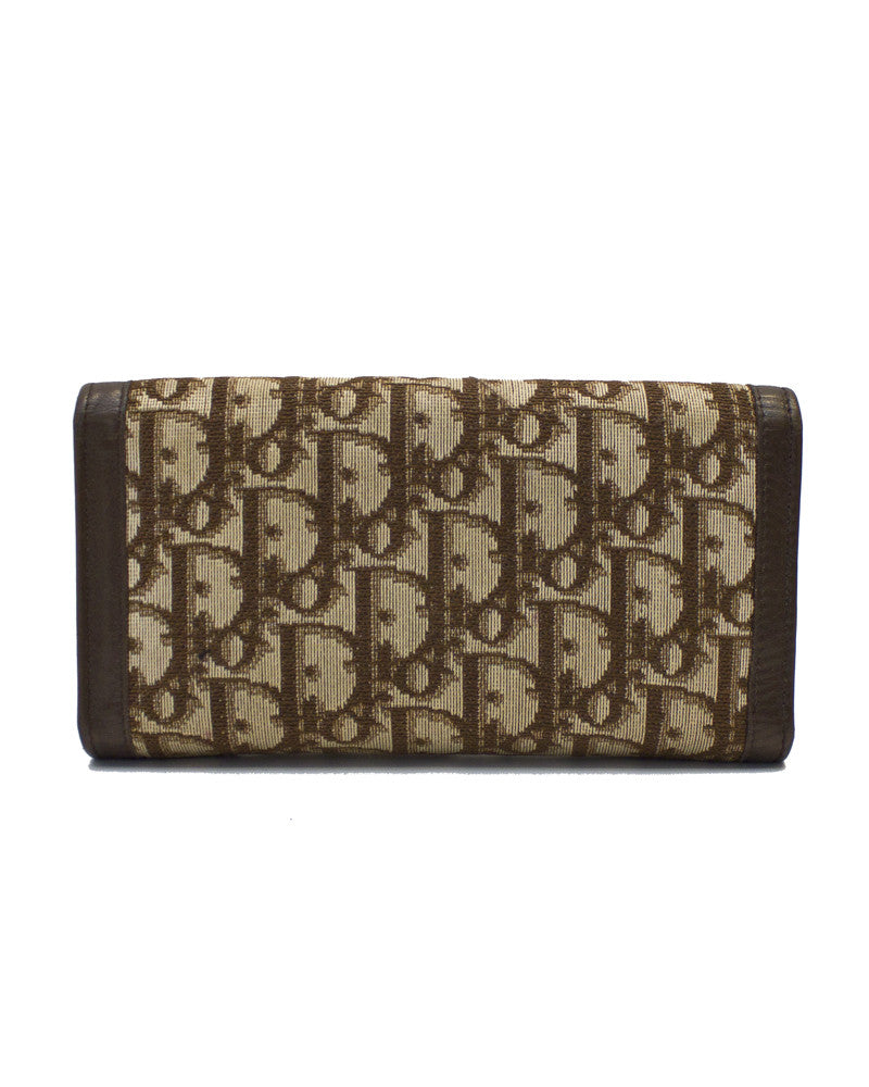 Brown Logo Monogram Wallet