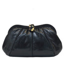 Black Exotic Skin Clutch