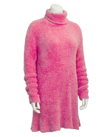 Pink Long Turtleneck Tunic