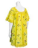 Yellow Mexican Boho Dress