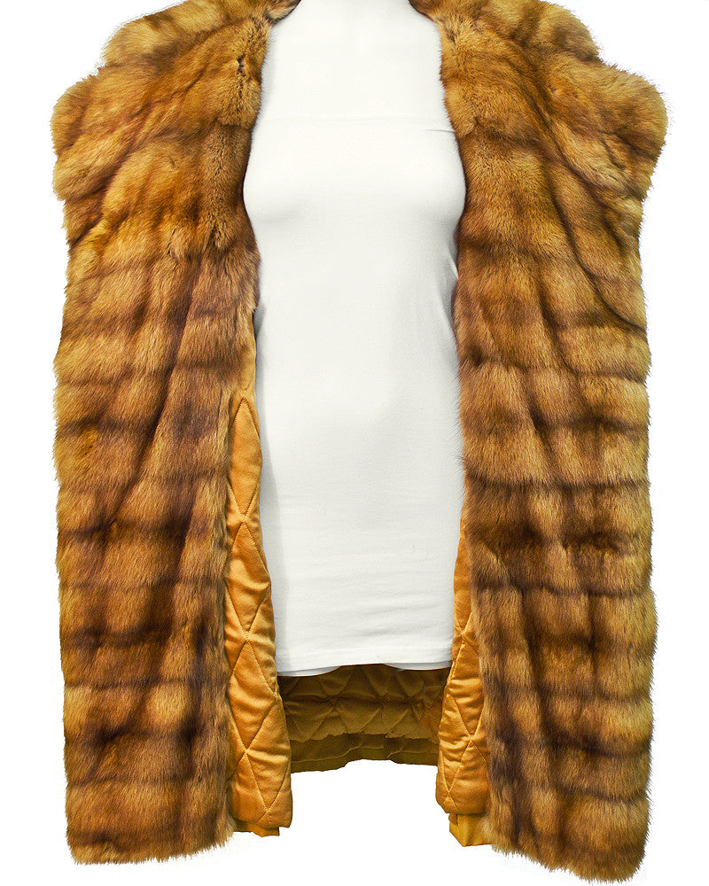 Golden Sable Trimmed Coat