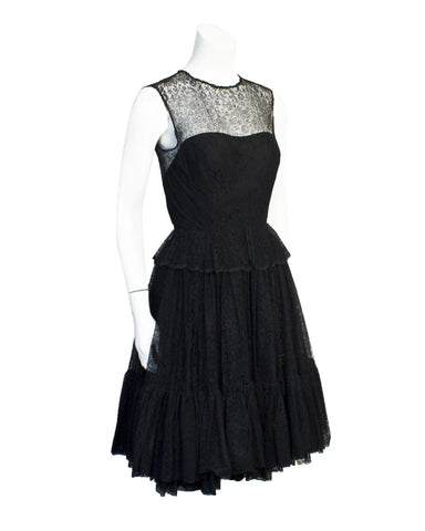 Black Lace 1950's Dress