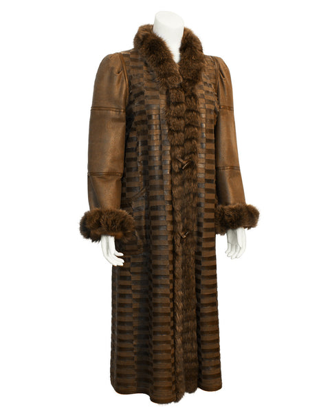 Brown Mink Long Reversible Coat