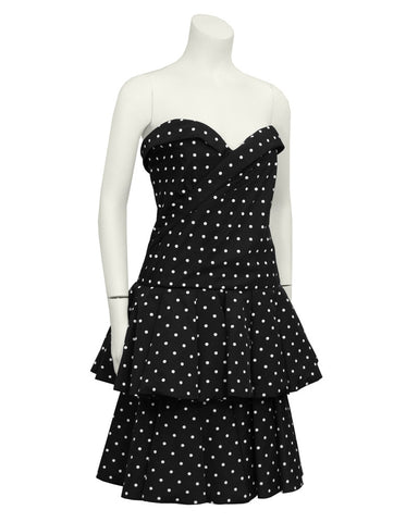 Black and White Polka Dot Cocktail Dress