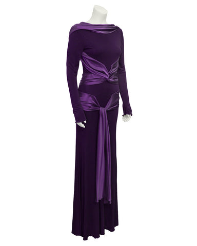 Purple Jersey Gown