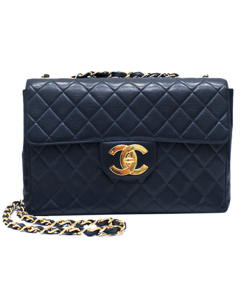 Navy Quilted Jumbo 2.55