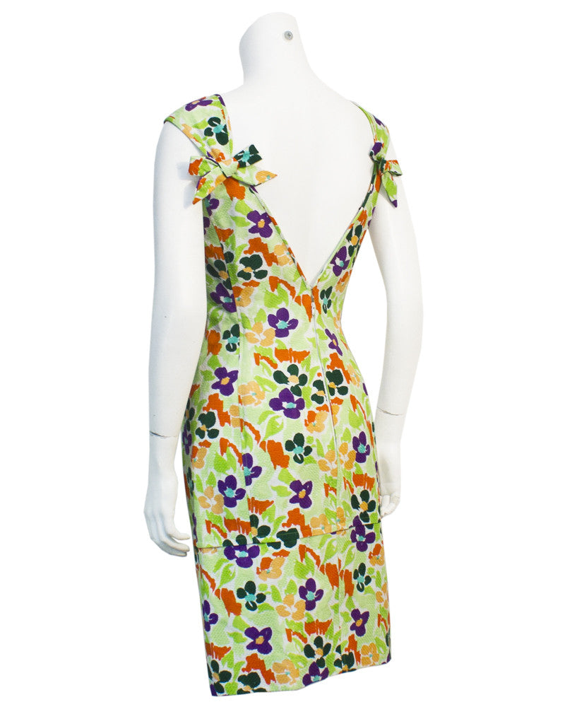 Floral Cotton Cocktail Dress