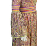 Purple, pink & green Bohemian Evening gown