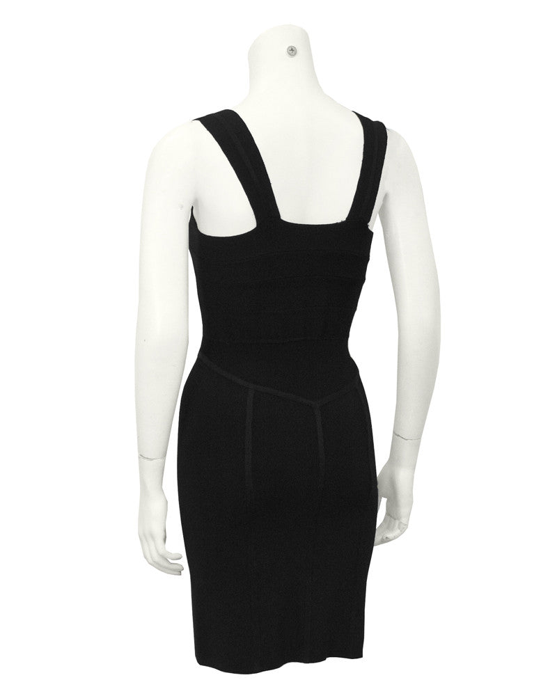 Black Body-Con Bandage Dress