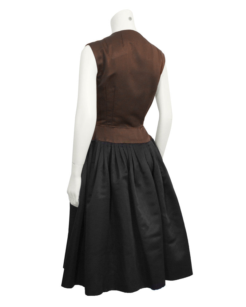 Brown and Black Cocktail Dress