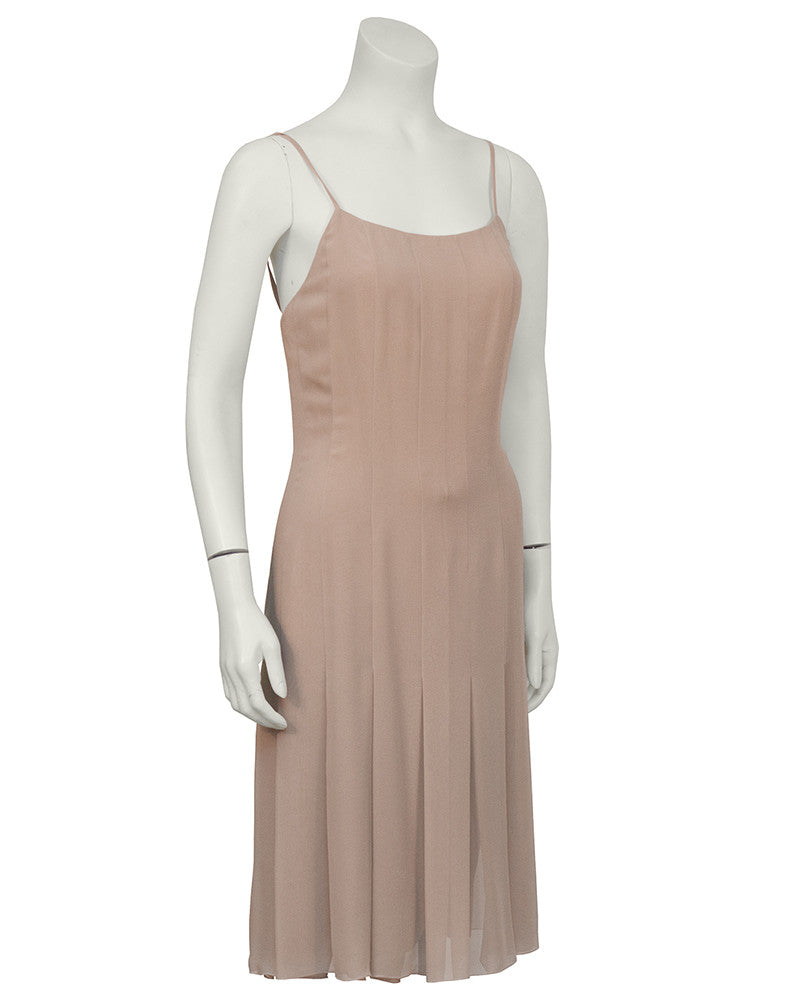 Taupe Chiffon Dress and Vest