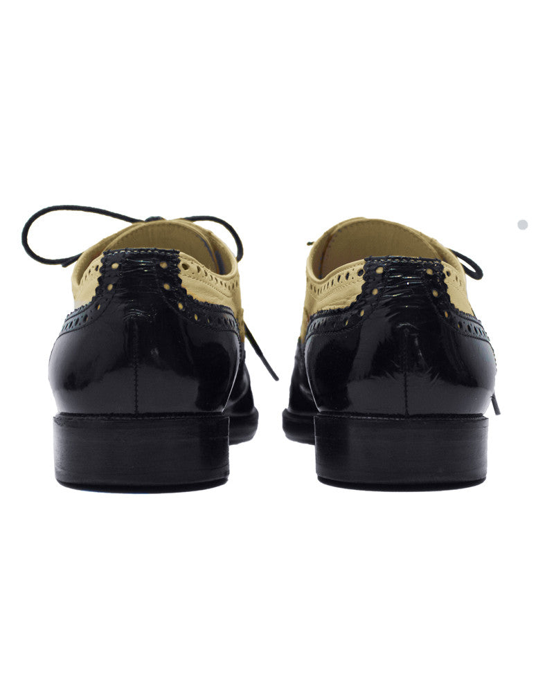 Off-White and Black Brogues