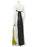 White & Black Spring 2013 RTW Cy Twombly Inspired Gown