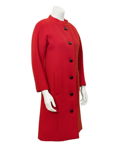 Red Couture Wool Coat