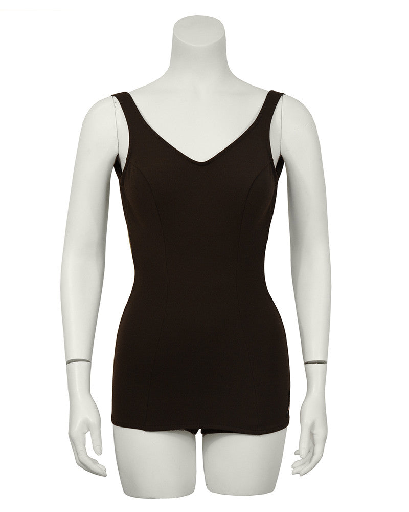 Brown One-Piece Swimsuit