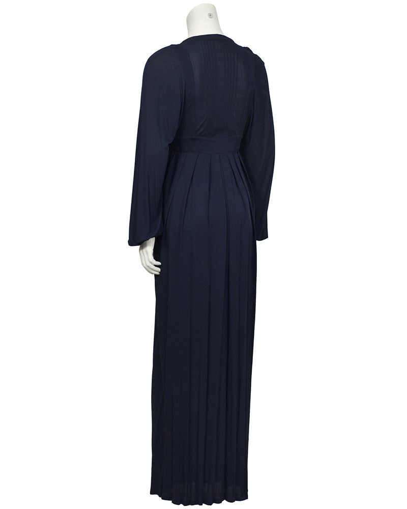 Navy Rayon Jersey Maxi Dress