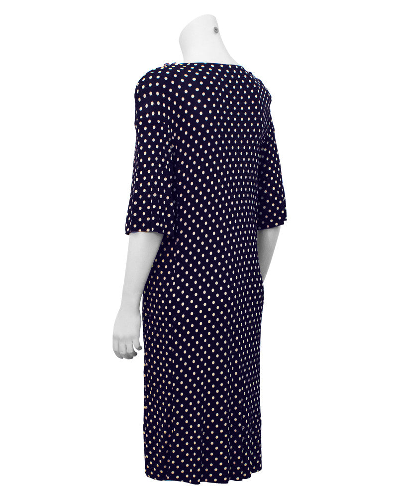 Navy Polka Dot Day Dress
