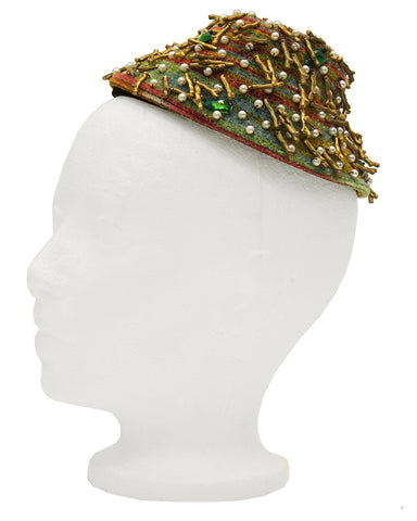 Twig & Pearl Multi Beaded Fascinator Hat