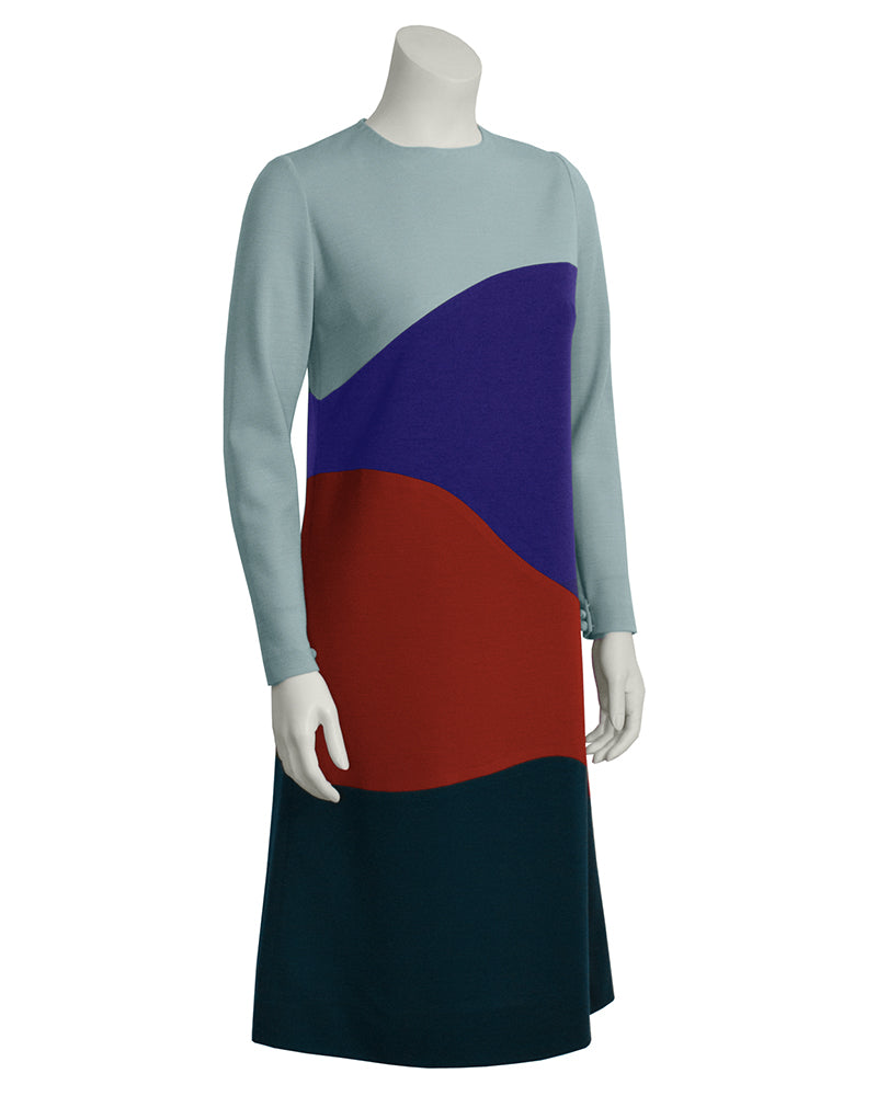 Color Block Jersey Dress