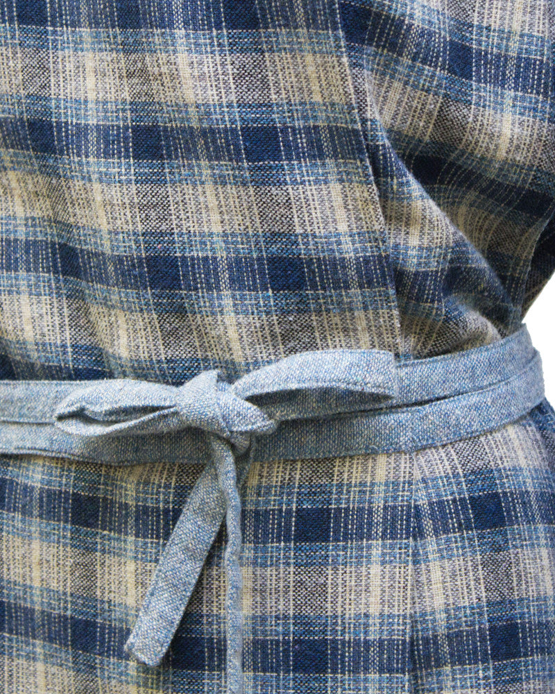 Blue Plaid Wool Dress