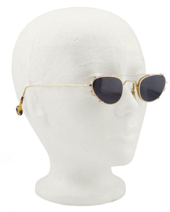 1980's LA Eyeworks Cat Eye Clip on Sunglasses