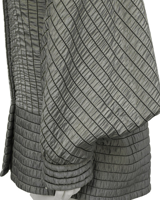 Grey Batwing Quilted Jacket