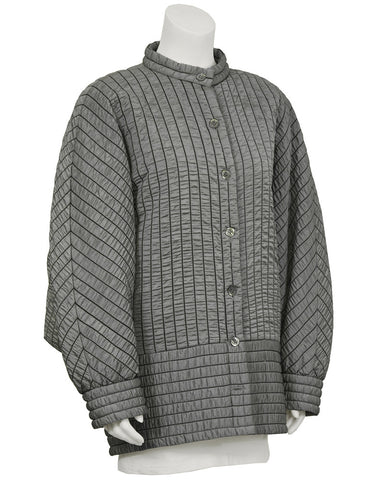 Batwing Gray Quilted Jacket