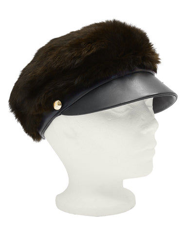 Bonwit Teller Mink and Leather Cap