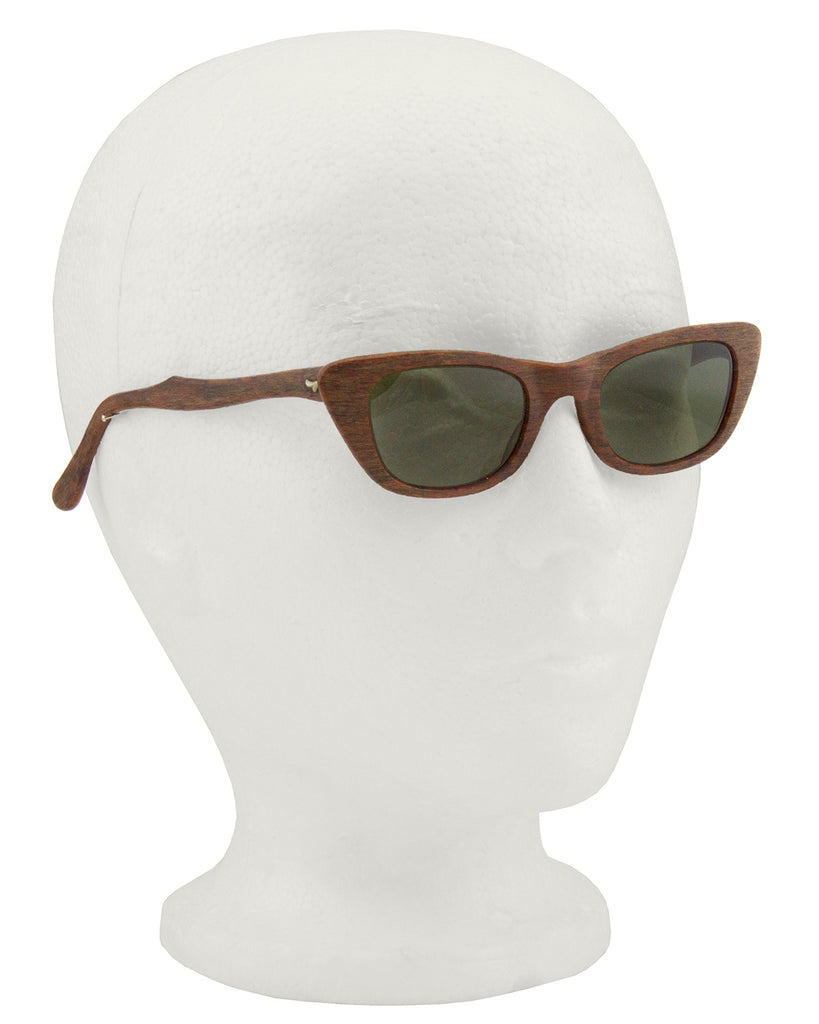 Faux Wood Sunglasses