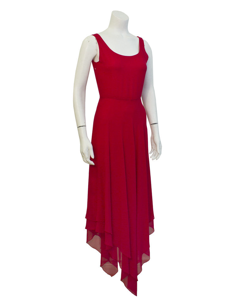 Red Gown with Caplet