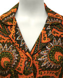 Orange Paisley Skirt Suit