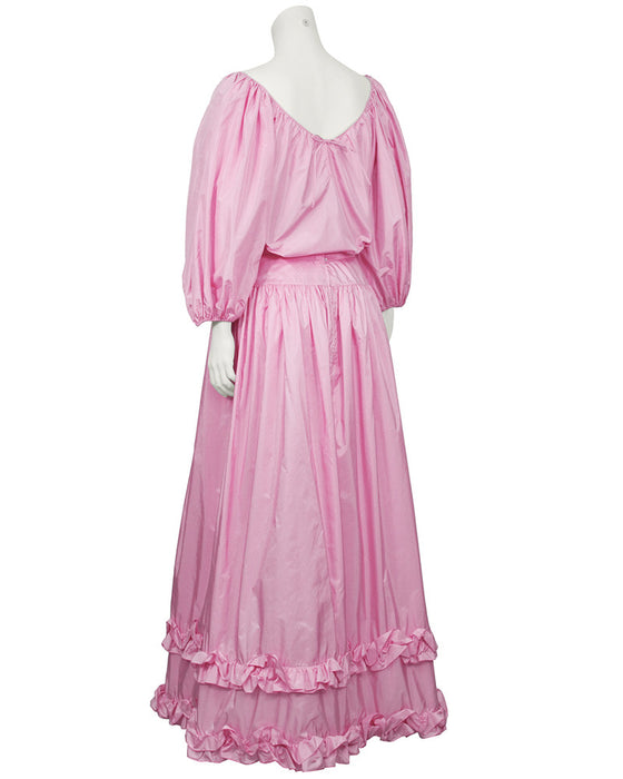 Pink Taffeta Evening Ensemble
