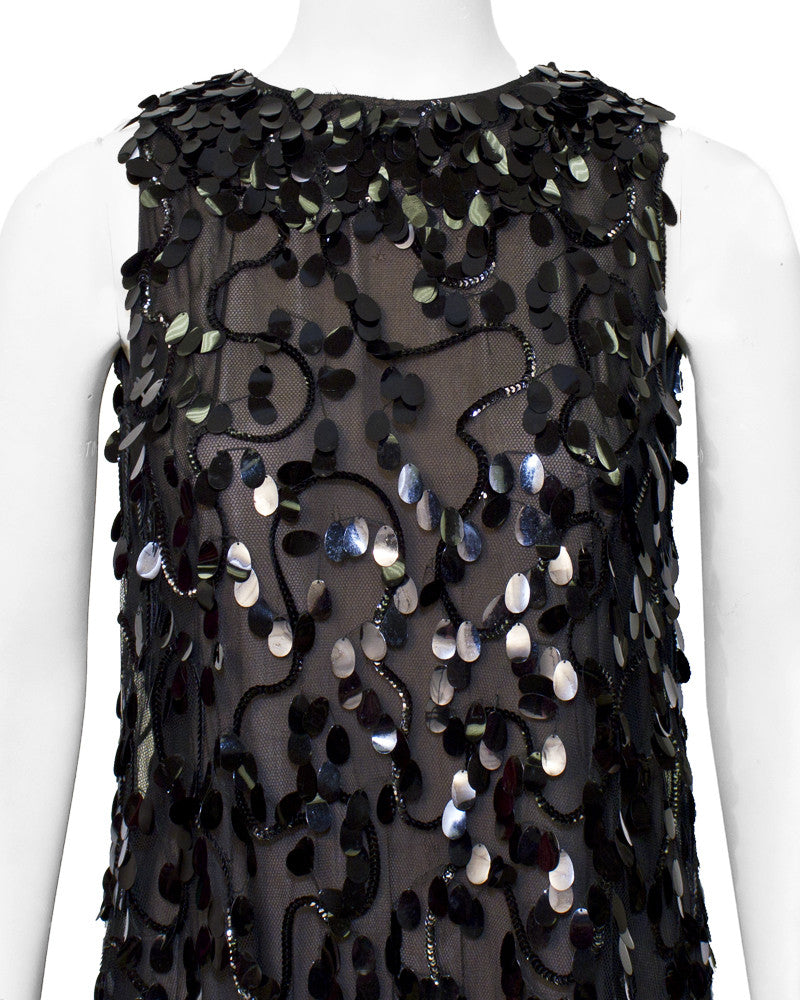Black paillettes Swing Dress