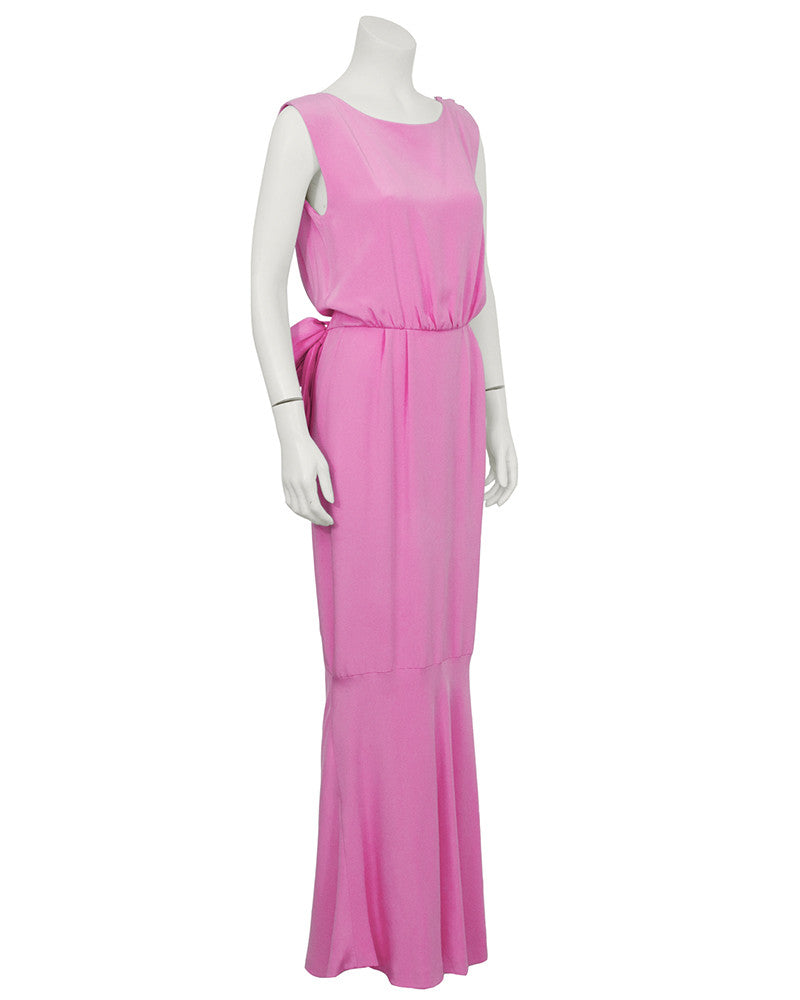 Pink Silk Evening Gown