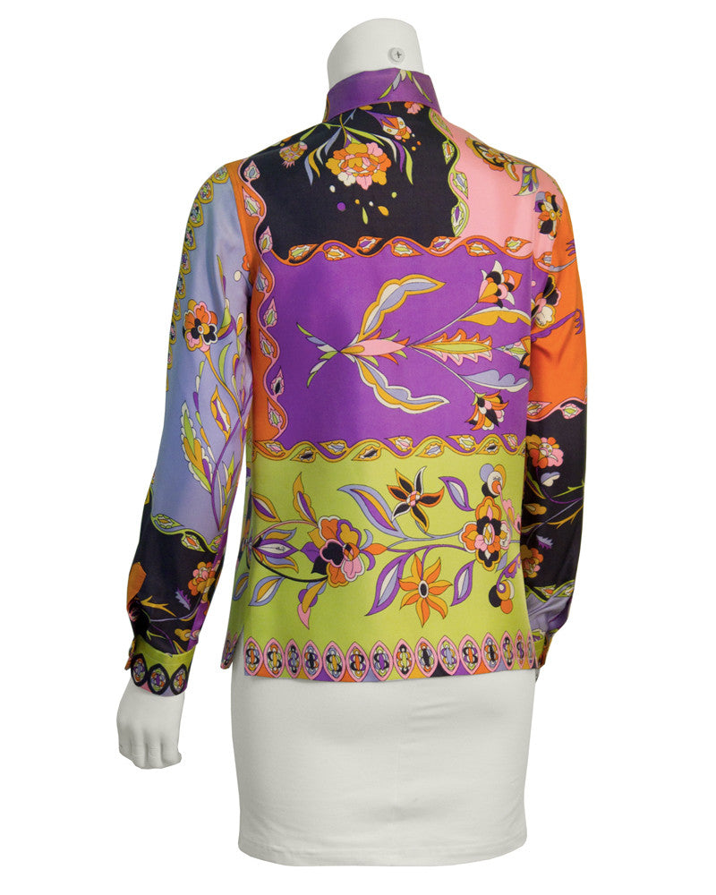 Multi-Colored Silk Blouse
