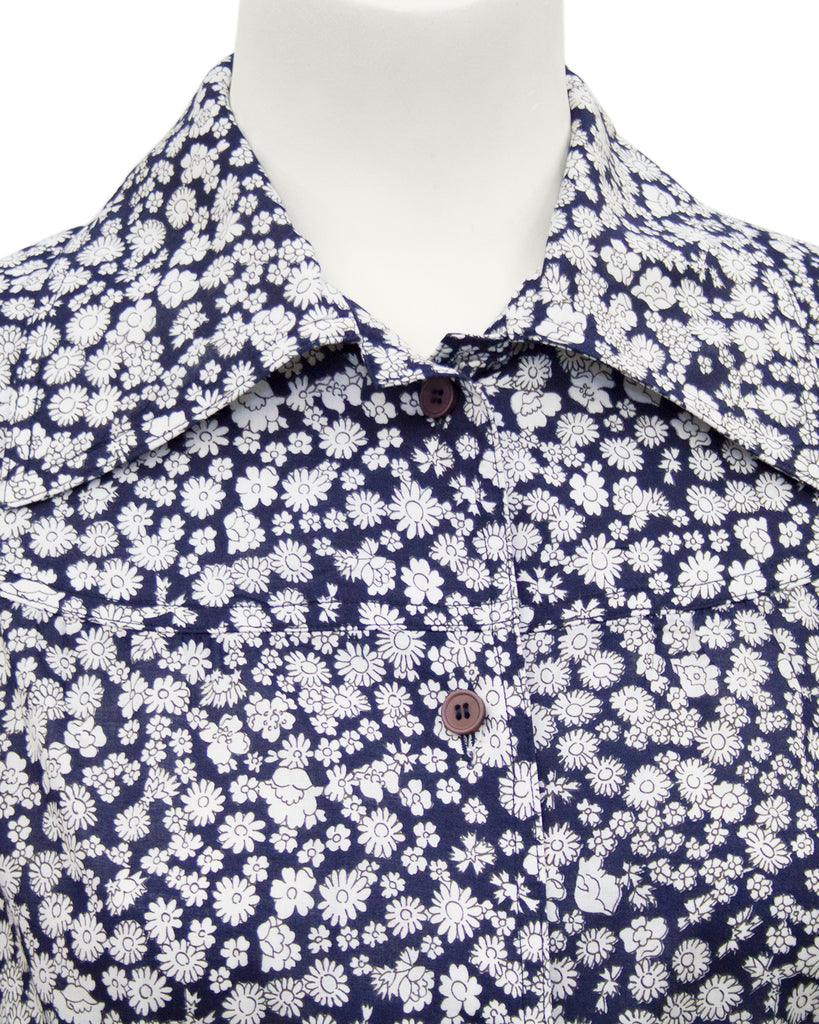 Navy and White Chintz Floral Ensemble