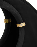 Black Satin Circle Handle Evening Bag