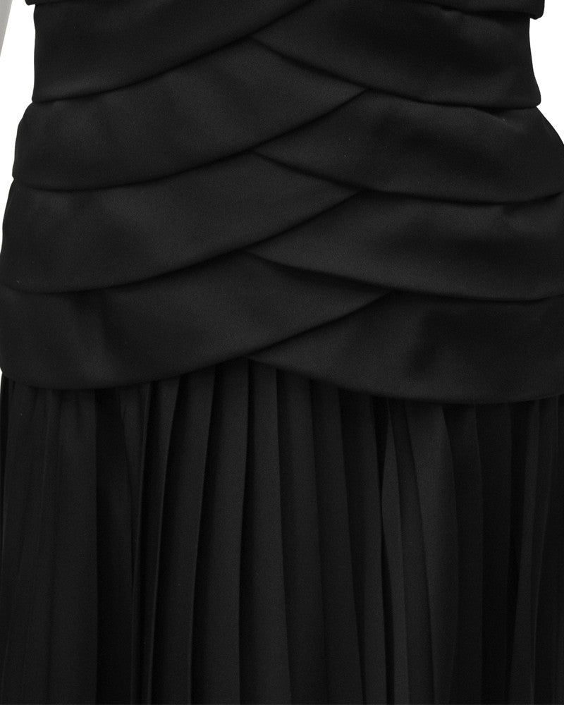 Black Off the Shoulder Cocktail Dress