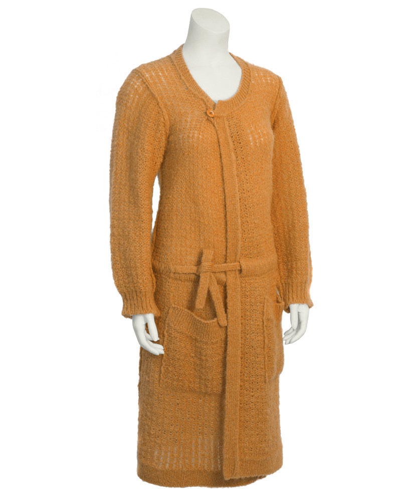 Peach Oversized Hand Knit Cardigan