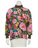 Silk Floral Printed  Blouse