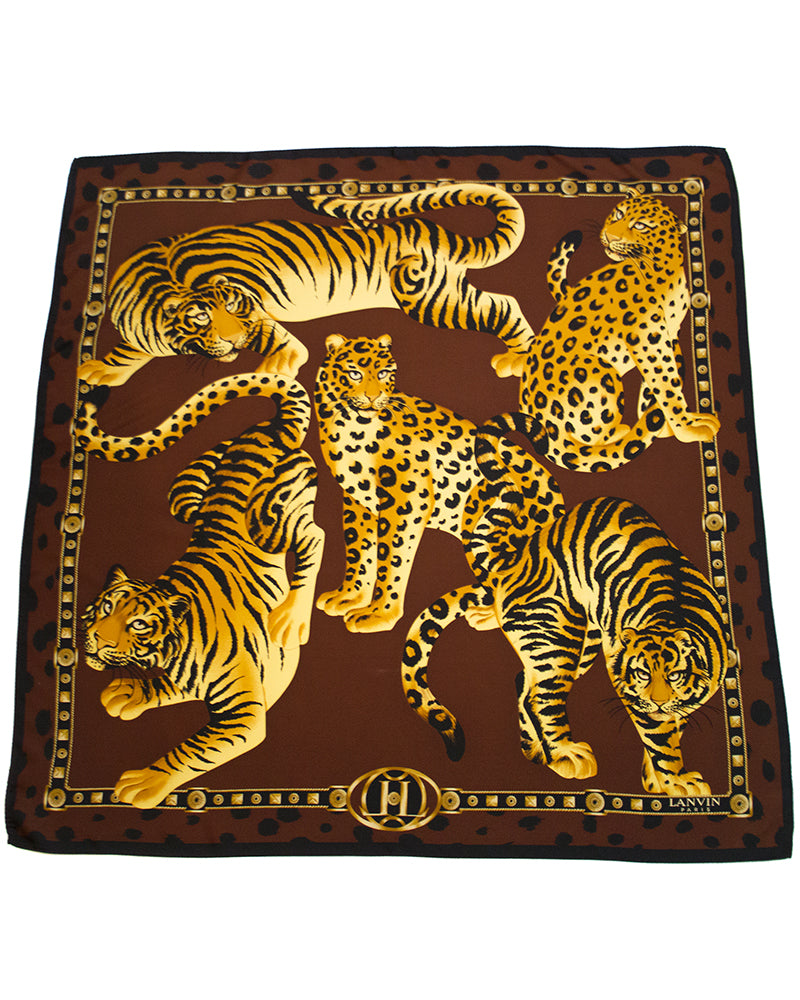 Wild Cats Silk Scarf