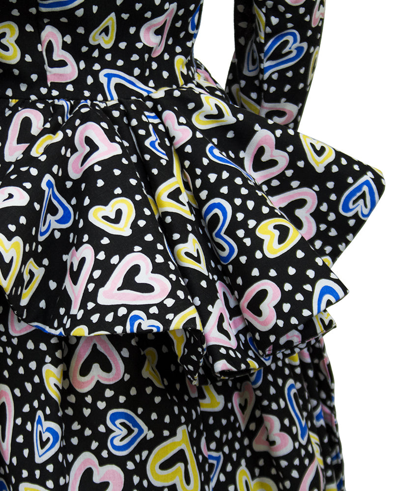 Heart Print Cocktail Dress