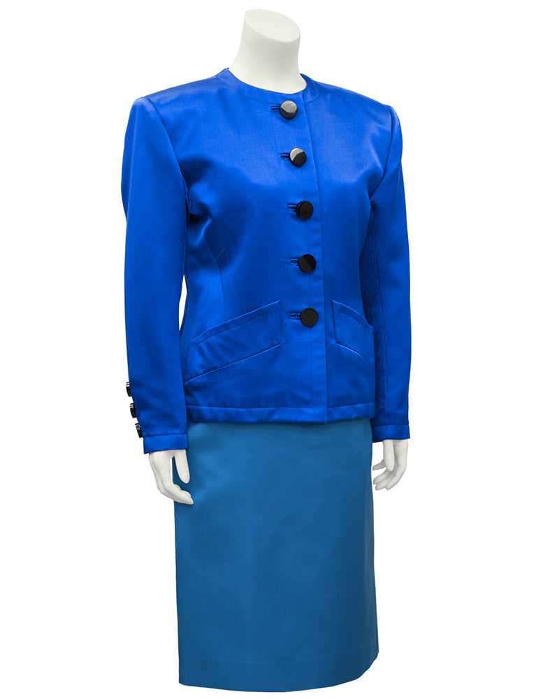 Blue Skirt Suit